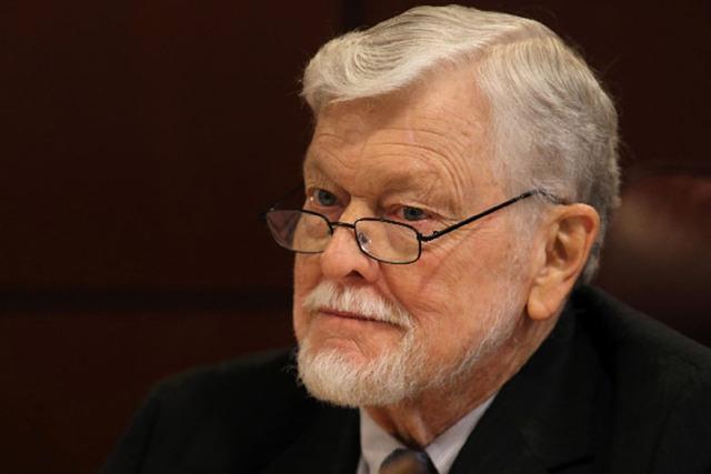 Assemblyman Joe Hogan, D-Las Vegas, seen during a committee session. (Las Vegas Review-Journal file photo)