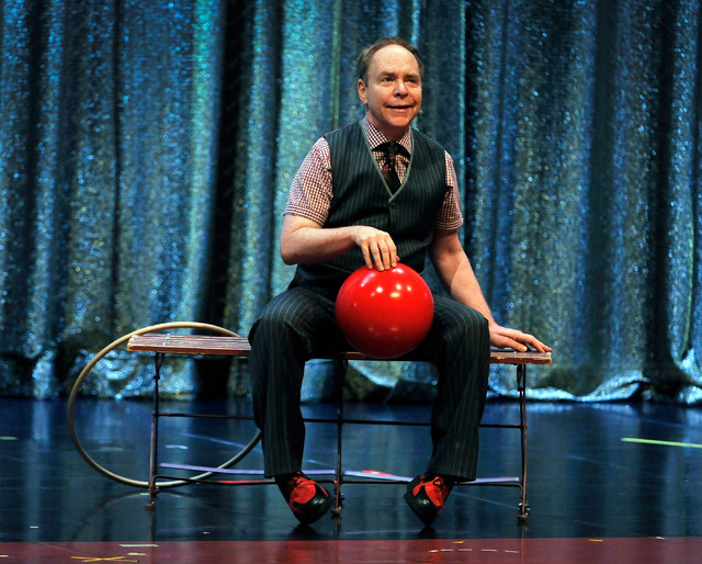 Teller of Penn & Teller performs during his show at the Rio on Monday, Aug. 18, 2014. (David Becker/Las Vegas Review-Journal)