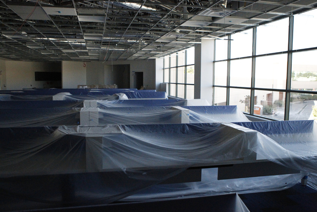 The future Allegiant Air control center is seen during a tour of their new corporate headquarters in Las Vegas Wednesday, Aug. 27, 2014. The project is scheduled to be completed in the fall. (Erik ...
