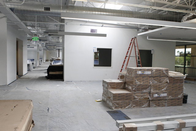 A room inside the future Allegiant Air corporate headquarters in Las Vegas is seen during a tour Wednesday, Aug. 27, 2014. The project is scheduled to be completed in the fall. (Erik Verduzco/Las  ...
