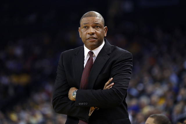Los Angeles Clippers head coach Doc Rivers during an NBA basketball game against the Golden State Warriors on Thursday, Jan. 30, 2014, in Oakland, Calif. (AP Photo)