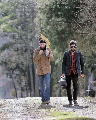 Seth Avett, left, and his brother Scott Avett of The Avett Brothers band (Chuck Burton/The Associated Press)