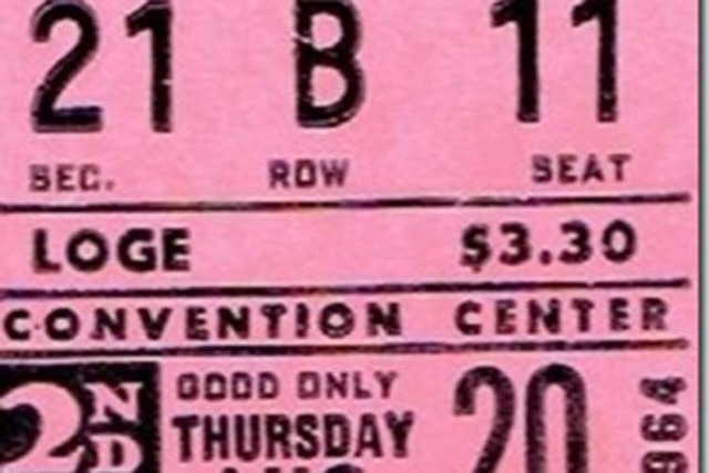 Linda Hiltbrand still has her ticket stub from the second Beatles' concert at the Las Vegas Convention Center on  Aug. 20, 1964.