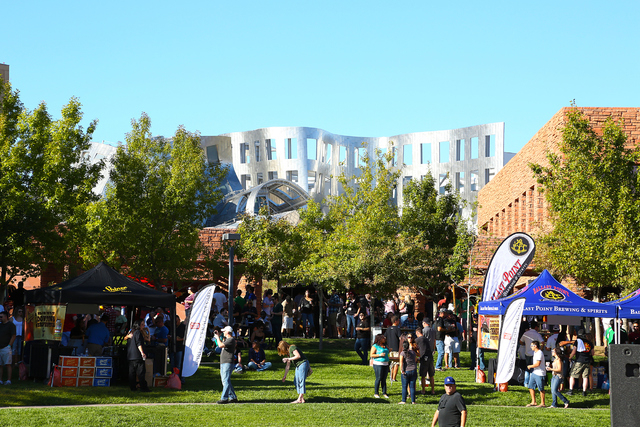 Scene from the 2013 Downtown Beer Festival, held at the Clark County Government Building. (Lee Flint/Motley Brews)