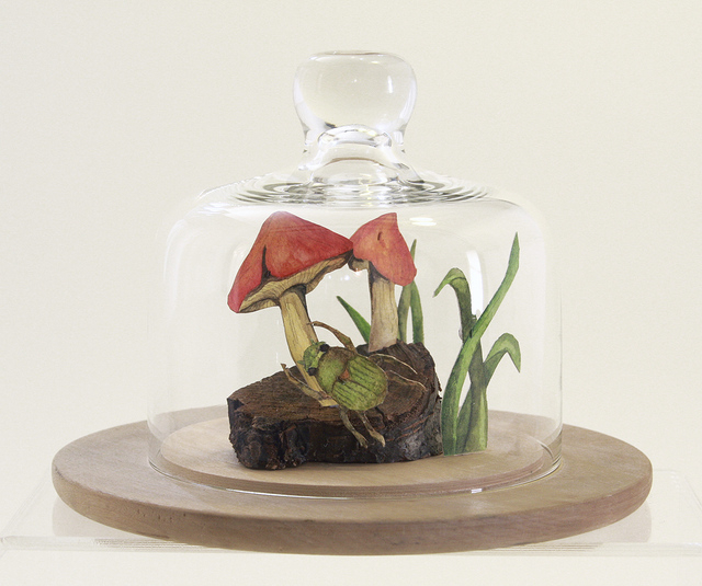 "Myranda Bair's work entitled ""Beetle on Glass, Beetle on Grass"" is one of the many art pieces on display at the 2014 CSN Art & Art History Faculty Exhibition, set through Sept. 26 at the Colle ..."