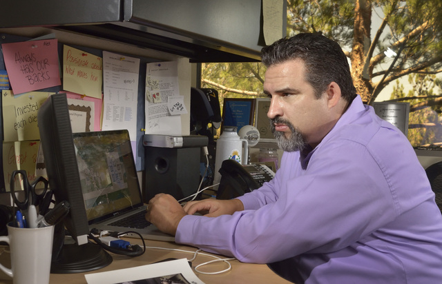 Alex Raffi, senior partner and creative director at iMAGiNE Communications, is shown in his office at 11500 S. Eastern Ave. in Henderson on Friday, Aug. 15, 2014. (Bill Hughes/Las Vegas Review-Jou ...
