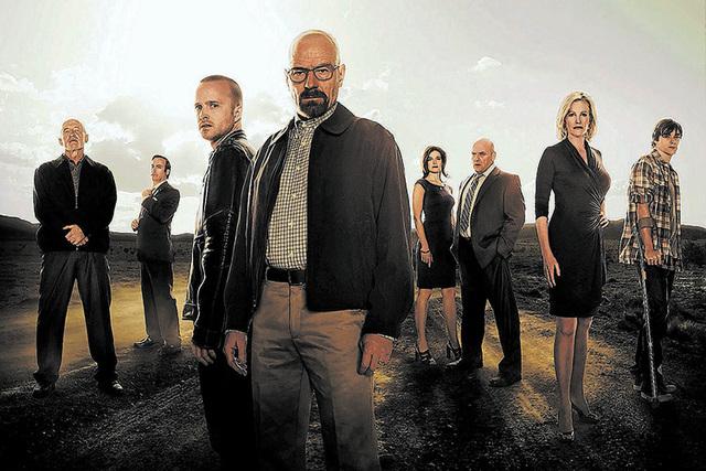 Breaking Bad cast photo. (Frank Ockenfels/AMC)