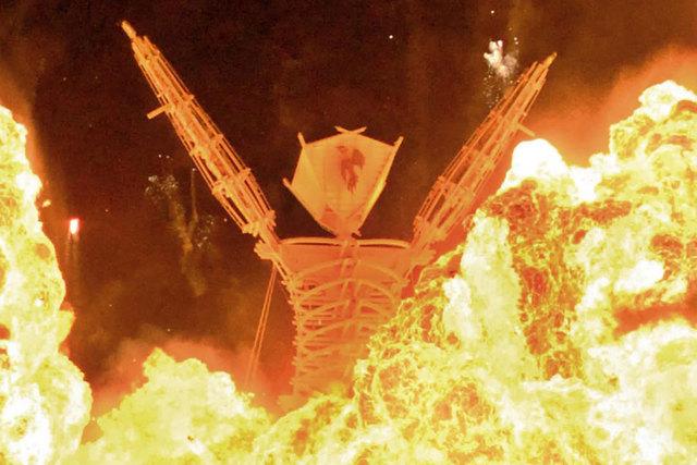 A woman died Thursday morning at the annual Burning Man festival near Reno. (AP Photo/Reno Gazette-Journal, Andy Barron, file)
