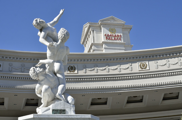 The exterior of the Caesars Palace at 3570 Las Vegas Blvd. South, in Las Vegas is shown on Tuesday, Oct. 29, 2013. (Bill Hughes/Las Vegas Review-Journal)