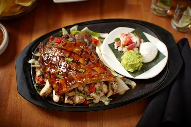 Among the new menu items at Cantina Laredo in Tivoli Village, 430 S. Rampart Blvd., Suite 110, is costillas con fajita, ribs based in Jose Cuervo barbecue sauce with beef and chicken fajitas. (Spe ...