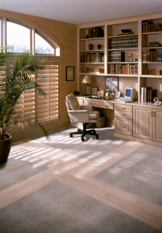 Thinkstock The lighter wood makes this den feel more airy.