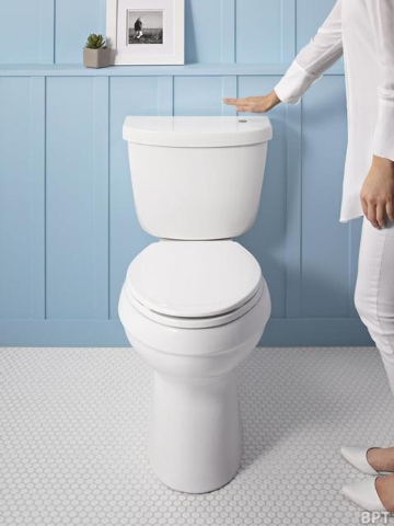 Brandpoint Touch-free toilet flushers improve hygiene in the bathroom.