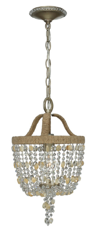 McClatchy-Tribune-News Service The Eva mini chandelier by Crystorama features glass and polished chrome.