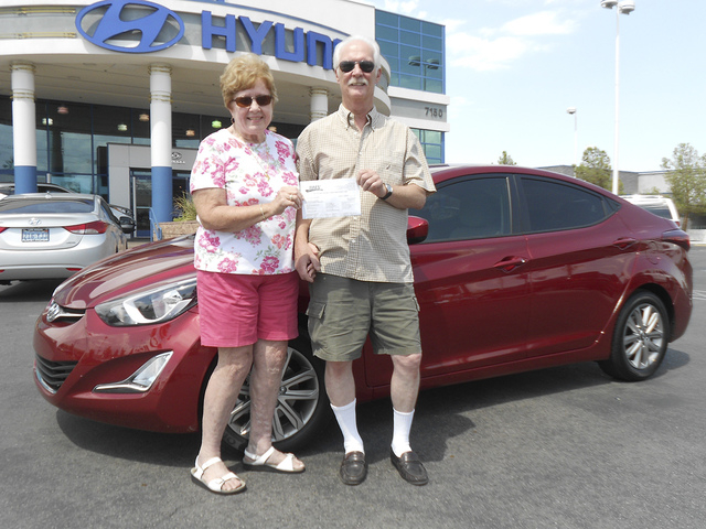 Courtesy photo Lorna Burdick and Brian Kosinski purchased their 2014 Hyundai Elantra from Planet Hyundai Sahara at 7150 W. Sahara Ave.