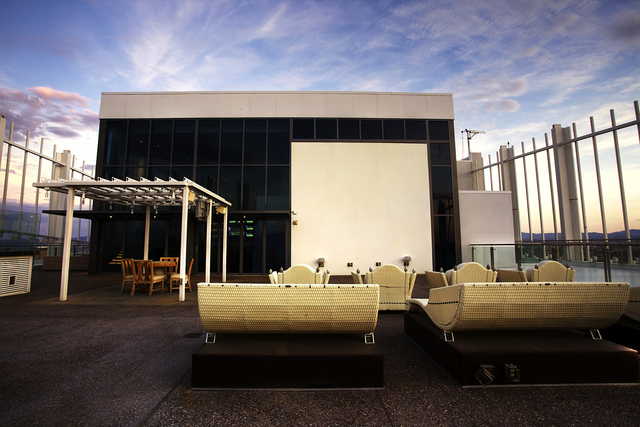 Courtesy photo  The Founders Penthouse at the Palms Place Tower features an outdoor movie theater.