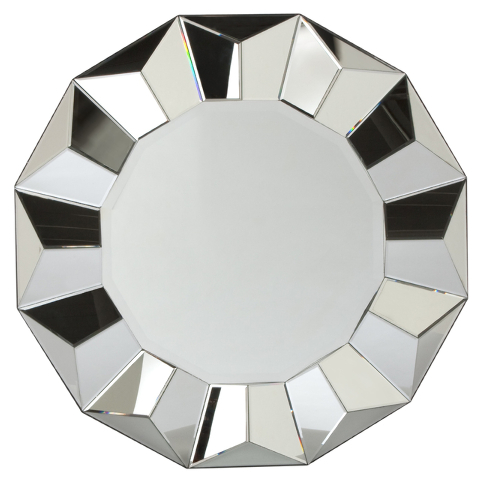 Courtesy Z Gallerie A faceted Portico mirror would make a dramatic statement over a mantel or in an entryway.