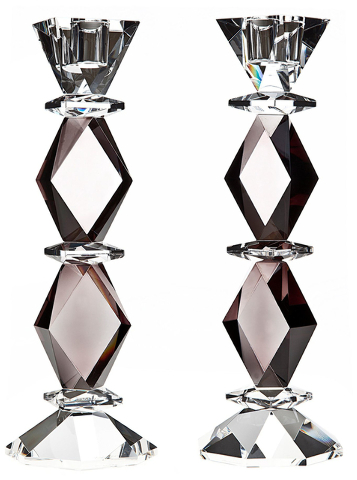 Courtesy Lamps Plus Godinger Ophelia crystal candlesticks would dress up a dining table.