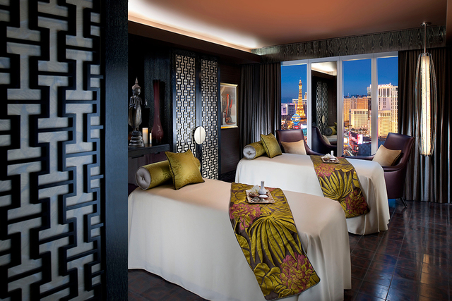 Courtesy photo  The Mandarin hotel in CityCenter features a spa for guests and luxury high-rise condo residents.