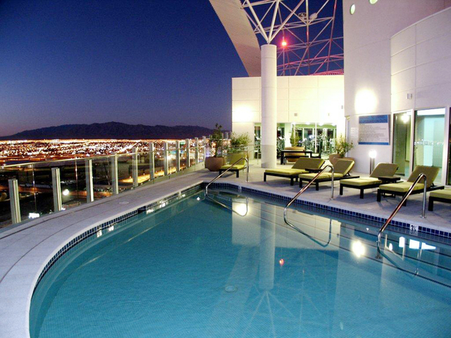 Courtesy photo  A two-level resale penthouse at Newport Lofts features views of the Las Vegas Valley from its terrace.