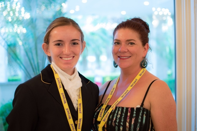 Lauren Sokolowski, left, and Amy Meyer, right, participate in a White Horse Youth Ranch gala event July 19 in Las Vegas. (Fernando Lopez/Special to View)