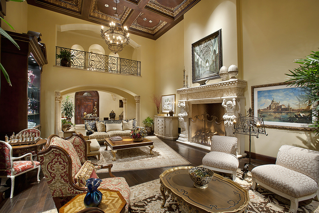 A living area in the Johnson estate's main residence.