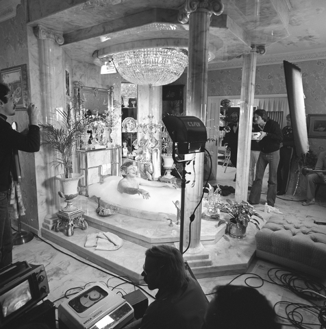 Photo courtesy Las Vegas News Bureau  In 1978 Liberace had film crews in his house recording his lifestyle for publicity.
