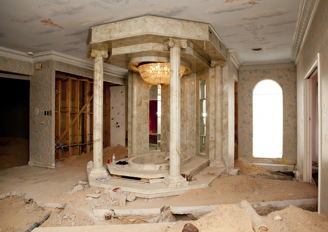 Tonya Harvey/Real Estate Millions The mansion's master bath has seen better days. Owner Martyn James Ravenhill plans to bring back it and the entire residence back to its former hey day.