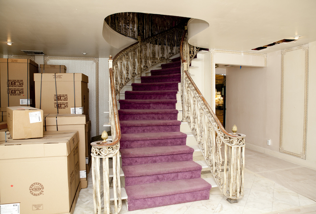 Tonya Harvey/Real Estate Millions The mansion's new owner Martyn James Ravenhell said the home's grand entry's curved staircase cost Liberace $75,000 to transport from Paris, France.
