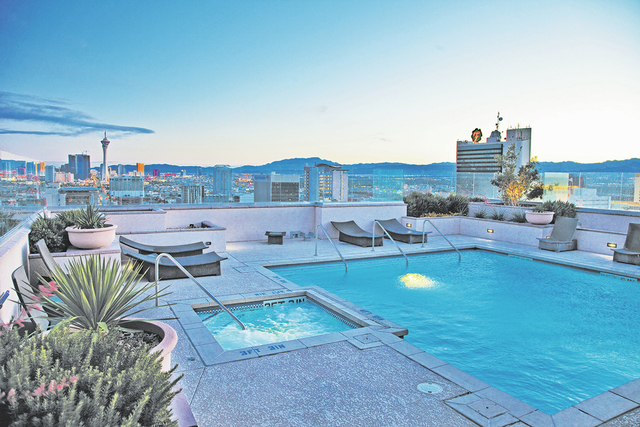 Courtesy of Bryan Hainer The Ogden high-rise building downtown offers a rooftop spa and pool as an amenities.