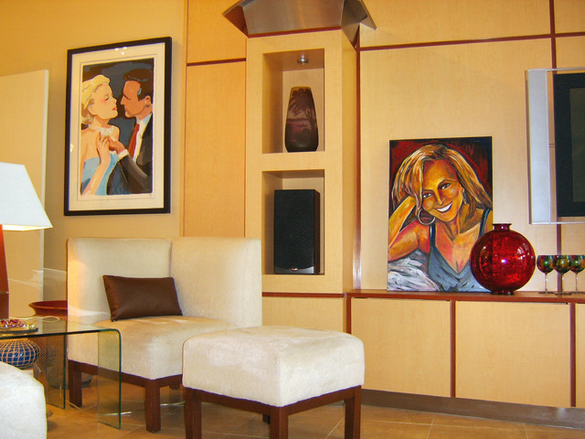 Courtesy GMJ Interiors Changing the artwork placement will give your room a new look.