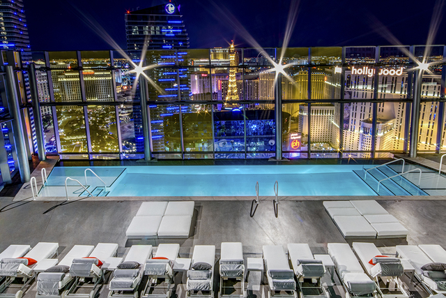 Courtesy photo The pool decks on top of both towers offer residents views of the Strip