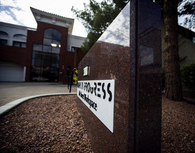 Work In Progress,  317 S. 6th Street as seen Wednesday, Aug. 20, 2014. The  co-working center provides services and office space for Vegas Tech fund and start-ups. (Jeff Scheid/Las Vegas Review-Jo ...