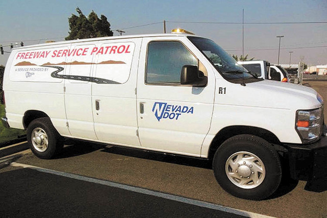 Nevada Freeway Service Patrol van. (Special to View)