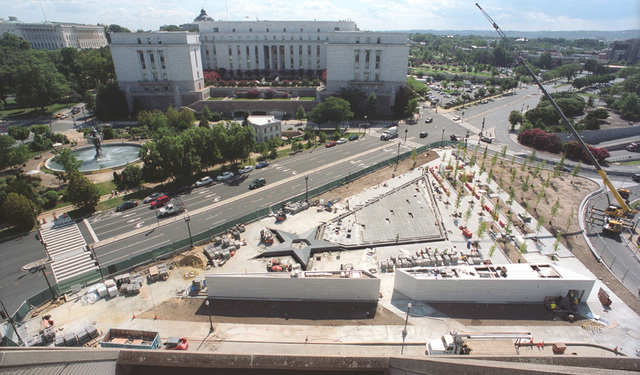 The American Veterans Disabled for Life Memorial under construction in Washington, D.C. (COURTESY)