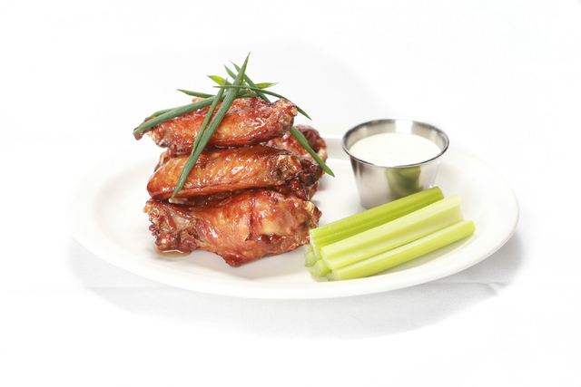 Smoked chicken wings from Double Barrel Roadhouse, Monte Carlo (Courtesy)
