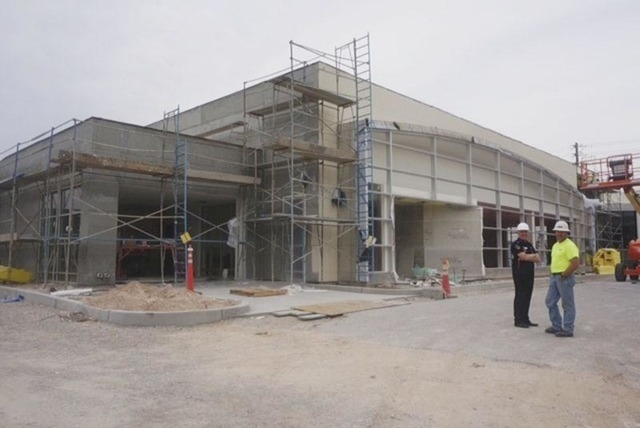 Courtesy photo Park Place Infiniti General Manager Joe Tortomasi and project superintendent Brent Evans of Boyd Martin Construction monitor progress on the dealership's renovation project on Wes ...