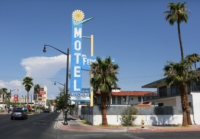 Fergusons Motel, located at 1028 East Fremont St. is shown Friday, Aug. 1, 2014, in Las Vegas. Downtown Project plans to transform the closed hotel into a retail center. (Ronda Churchill/Las Vegas ...