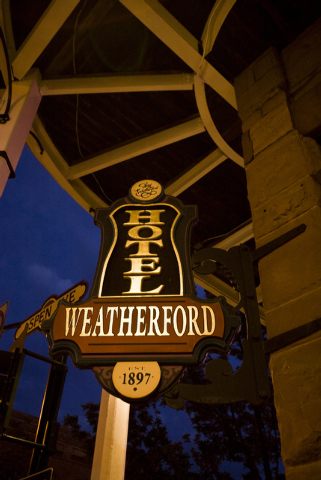 The historic Hotel Weatherford in downtown Flagstaff, Arizona, on July 11, 2009. The hotel is a popular  venue for dining and entertainment. (JEFF SCHEID/LAS VEGAS REVIEW-JOURNAL)