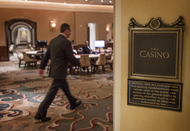The high end gaming area at The Mansion at MGM Grand as seen Friday, July 25, 2014. Backed by healthy gains from 10 Strip developments, MGM Resorts reversed a second-quarter net loss, the company  ...