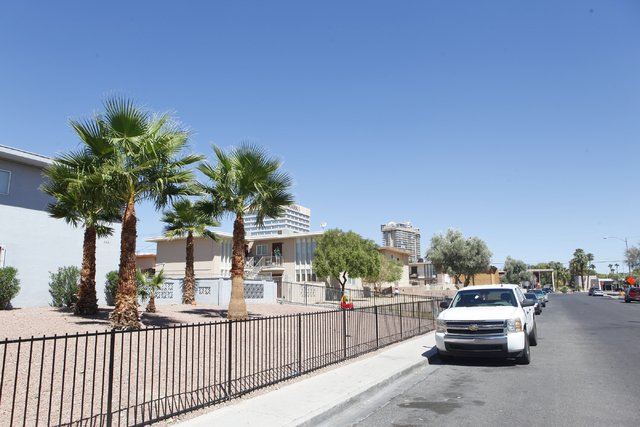 A man was found stabbed on the sidewalk in the 3300 block of Brussels Street, near Desert Inn Road and Maryland Parkway, early Monday, Aug. 25, 2014. He died later at Sunrise Hospital and Medical  ...
