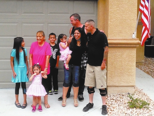 On July 8, Wells Fargo and Operation Homefront provided a wounded U.S. Army Iraqi veteran a mortgage-free home in North Las Vegas. SPECIAL TO VIEW
