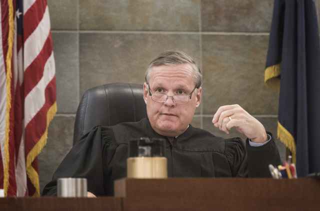 Clark County District Court  Judge David Barker on Monday, July 14, 2014. (Jeff Scheid/Las Vegas Review-Journal)