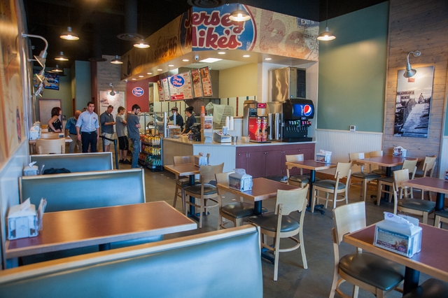 The interior of Jersey Mike's Subs on 7390 S. Las Vegas Blvd., in Las Vegas is seen Thursday, July 31, 2014. (Martin S. Fuentes/Las Vegas Review-Journal)