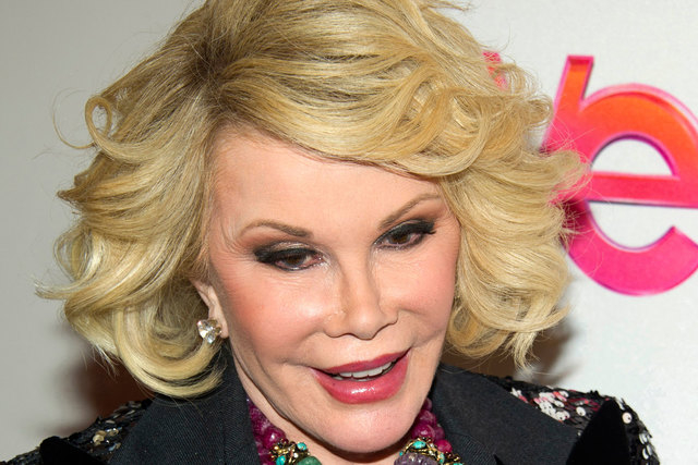 Joan Rivers remains in serious condition in a New York City hospital on Friday, Aug. 29, 2014, one day after going into cardiac arrest at a doctor's office. (AP Photo/Charles Sykes, File)