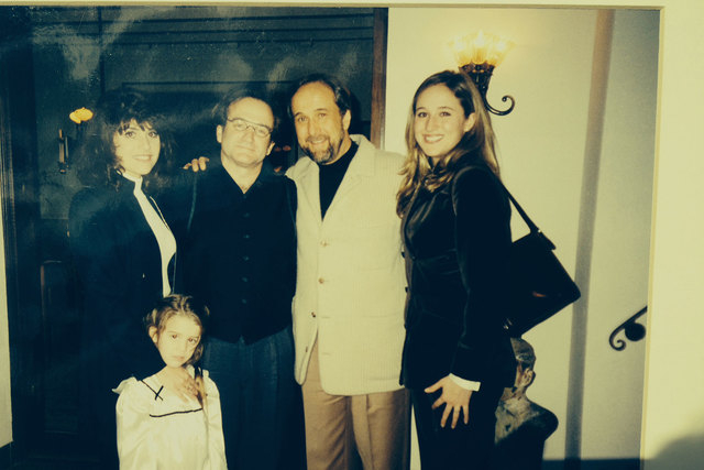 Larry Ruvo and his family went to dinner with Robin Williams sometime around 1997-98 in San Francisco. From left are, Camille Ruvo with daughter Lauren in front of her, Robin Williams, Larry Ruvo  ...
