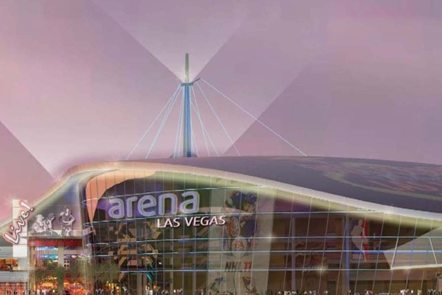An artist's rendering shows the proposed downtown arena at Symphony Park. (Courtesy City of Las Vegas)