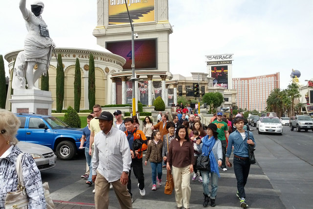 Las Vegas had the weakest monthly percentage increase of visitors of the year in July, but still had the third-best month by total numbers, attracting 3.5 million people. (Las Vegas Review-Journal ...