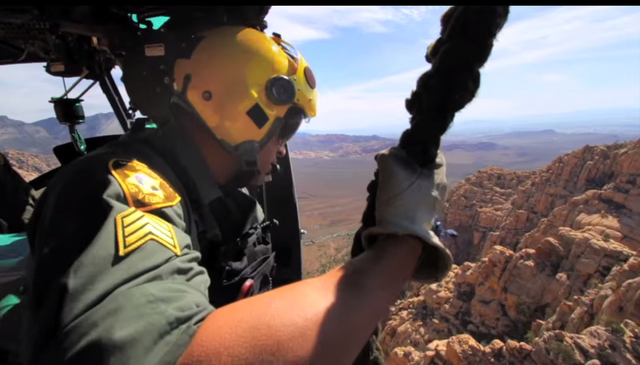 Framegrab from a YouTube video advertising the Las Vegas Metropolitan Police Search and Rescue team. (Courtesy Las Vegas Metropolitan Police)