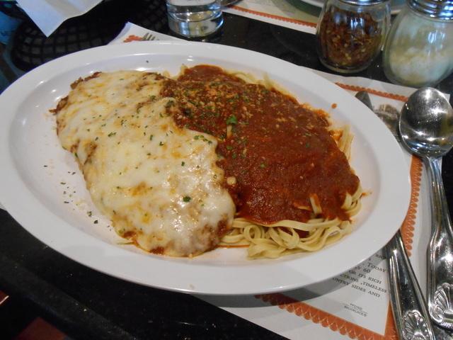 Eggplant Parmesan is shown at Maru's Pizza & Italian Bistro, 8125 W. Sahara Ave. (Jan Hogan/View)