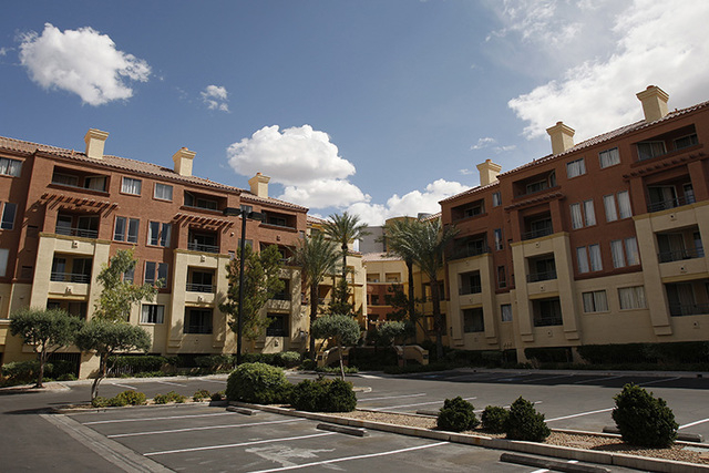 JOHN LOCHER/REVIEW-JOURNAL The Meridian luxury condominiums are shown on Koval Lane near Flamingo Boulevard